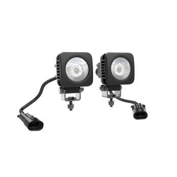 TVÅ 5 CM FYRKANTIGA LED-LAMPOR (2 X 25 W)