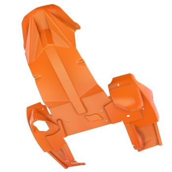 Heavy-duty heltäckande bukskydd, race orange